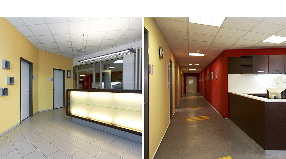 Konzept innenarchitektur um und ausbau dentallabor for Innenarchitektur leipzig