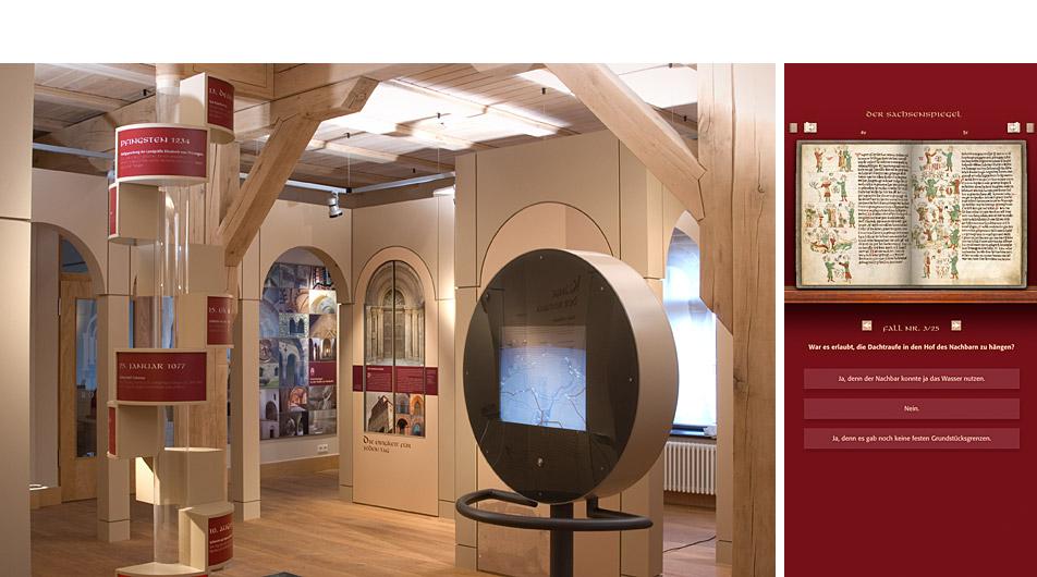 konzept multimedia haus der romanik sachsenspiegel. Black Bedroom Furniture Sets. Home Design Ideas