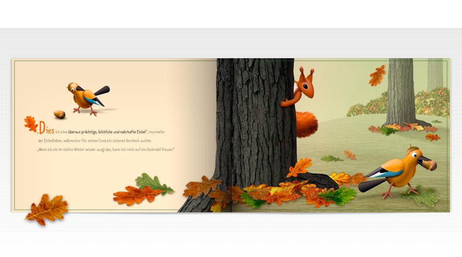 Konzept design kinderbuch eichel her ministerium for Designhotel brandenburg